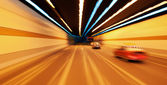 High-speed car in the tunnel — Stock Photo