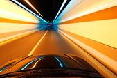 İyi geceler, yüksek hızlı araba — Stok fotoğraf