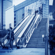 Escalator of Shanghai streets — Foto Stock