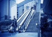 Escalator of Shanghai streets — Stockfoto