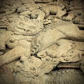 древние китайские скульптура — Стоковое фото