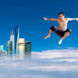 Stock Photo: Jumping man