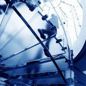 Glass spiral staircase — Stockfoto