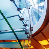 Glass spiral staircase — Stock Photo