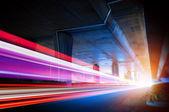 Viaduto e faixa de luz — Foto Stock
