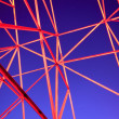 Metal framework of the night — Stockfoto