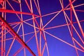 Metal framework of the night — Stock Photo
