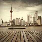 Panoramę szanghaju — Zdjęcie stockowe