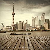 šanghaj panorama — Stock fotografie