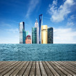 Sea skyscrapers — Stockfoto