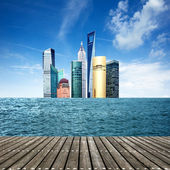 Sea skyscrapers — Stock Photo
