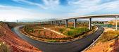 Carretera y viaducto — Foto de Stock