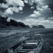 Stock Photo: Wilderness of dark clouds