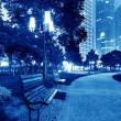 Stock Photo: Park at night