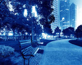 The park at night — Foto Stock