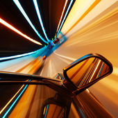 Night, high-speed car — Stok fotoğraf