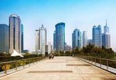 Shanghai lujiazui financial center skyskrapa — Stockfoto