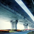 Stock Photo: Under elevated road