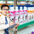 Supermarket administrator — Stock Photo