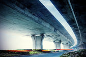 Under elevated road — Stock Photo