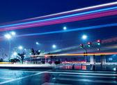 Viaduct night scene — Stock Photo