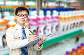 Supermarket administrator — Stock Photo