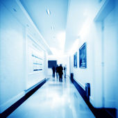 Corridor and the crowd — Stock Photo