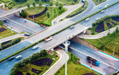 Aerial transport hub overpass — Stock Photo