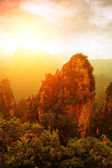 Sunset when the mountains — Stock Photo