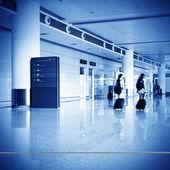 Pasażerów w shanghai pudong airport — Zdjęcie stockowe