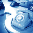 Sixties rotary dial telephone — Foto Stock