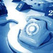 Sixties rotary dial telephone - Stock Photo