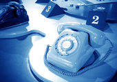 Sixties rotary dial telephone — Stock Photo