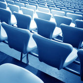 Soccer stadium chairs — Stock Photo