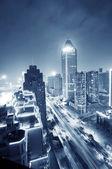 ночной шанхай — Стоковое фото