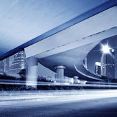 Viaduct Night — Stock Photo