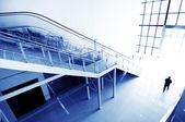 Hall stairs and escalators — Stock Photo