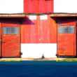 Red door warehouse — Stock fotografie