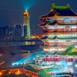 Night of ancient Chinese architecture — Stock Photo