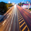 Stock Photo: Highway light trails