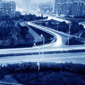 Highway light trails — Stock Photo