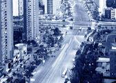 都市の航空写真ビュー — ストック写真