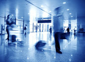 Airline passengers at the airport — Stock Photo