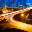 Highway light trails — Stockfoto