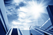 Escalator to the sky — Stockfoto