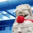 Traditional Chinese stone lion — Stock fotografie