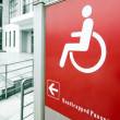 Using wheelchair ramp — Stock Photo #20336781
