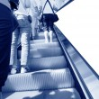 At the airport escalator — Stock Photo