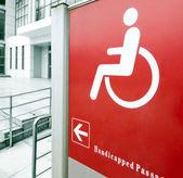 Using wheelchair ramp — Stock Photo