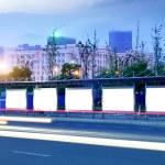 Blank billboard at night — Stock Photo #20341259